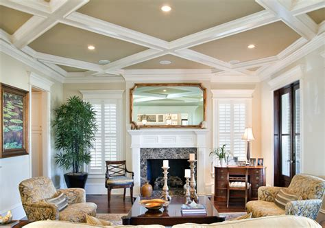 10 decorative living room with ceiling molding ideas