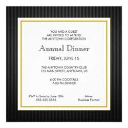 black gold business professional dinner personalized invites zazzle