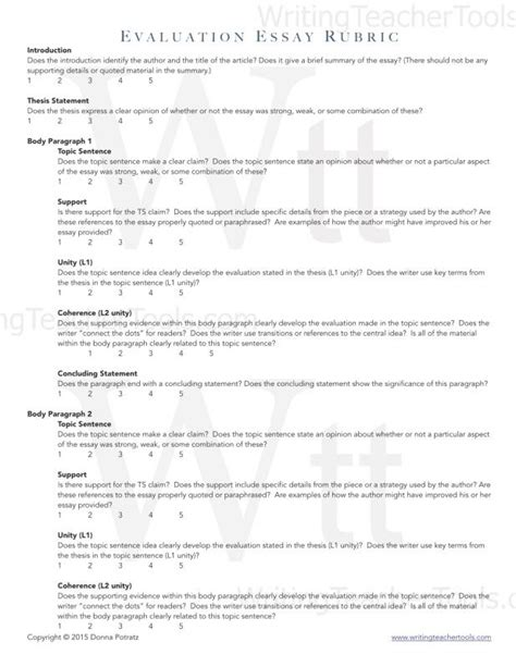 Exle Of An Evaluation Essay by Evaluation Essay Exle Template Business