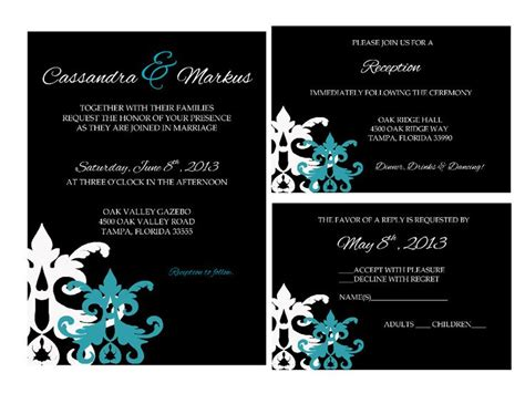 teal and black damask wedding invitations 3878 best teal wedding invitations images on