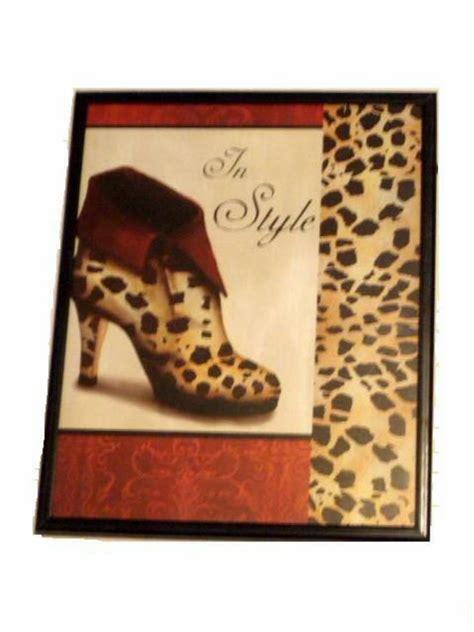 Leopard Print Shoe Framed Wall Decor