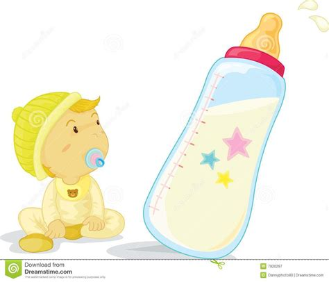 In The Bottle By Maxcyber Cloth baby and bottle stock illustration image of teat