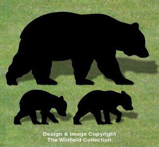 animals bear family shadow wood pattern