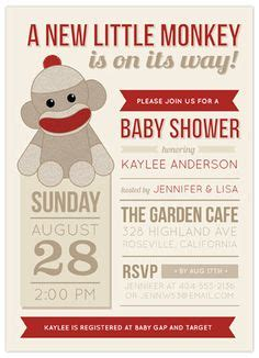 sock monkey invitation template sock monkey baby shower invitation template theruntime