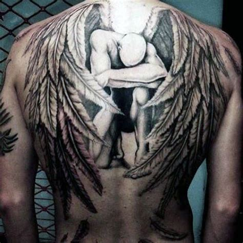 Guardian Tattoo Full Body   100 guardian angel tattoos for men spiritual ink designs