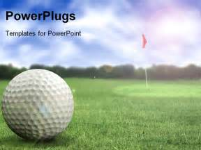 golf powerpoint templates golf in a course with striking colours powerpoint