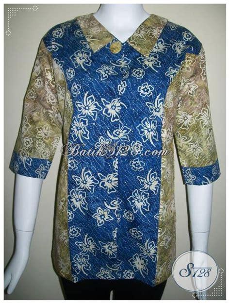 Ld Cap Smok Baju Batik Baju Batik Kantor baju batik cantik motif dua warna trend model baju kerja