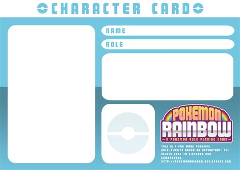 simple character card template character card template by ry spirit on deviantart