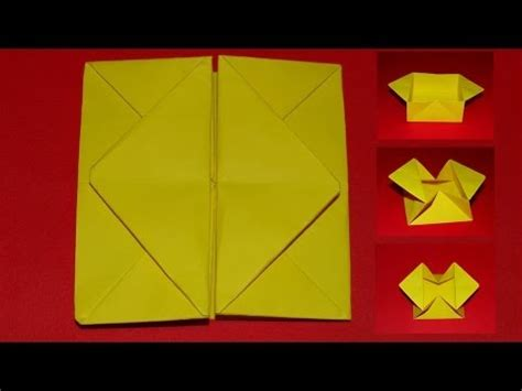 How To Make A Popper Out Of Paper - how to make an origami pop out envelope box 03
