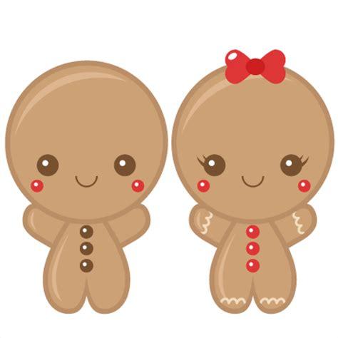 gingerbread boy amp scrapbook clip art christmas cut