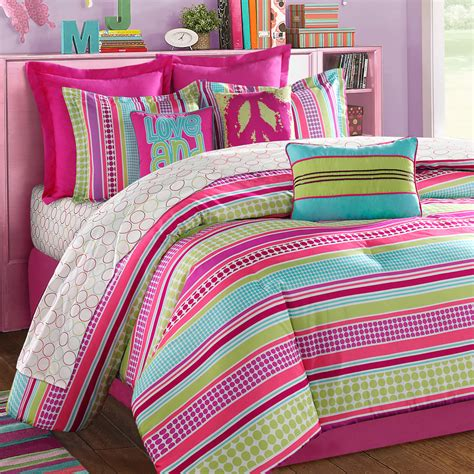 pink teen bedding girls comforters and bedspreads stipple teen bedding pink aqua lime purple bedding