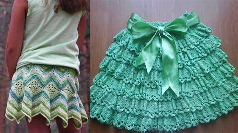 faldas de crochet para nina faldas para ni 241 a tejida a crochet youtube