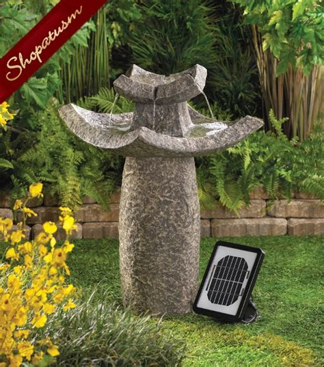 solar powered backyard fountains temple solar fountain temple pedestal garden fountain