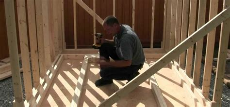 Small A Frame House Plans how to build a shed part 5 framing the walls
