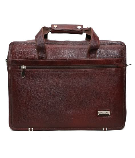 c comfort c comfort brown leather laptop bag buy c comfort brown