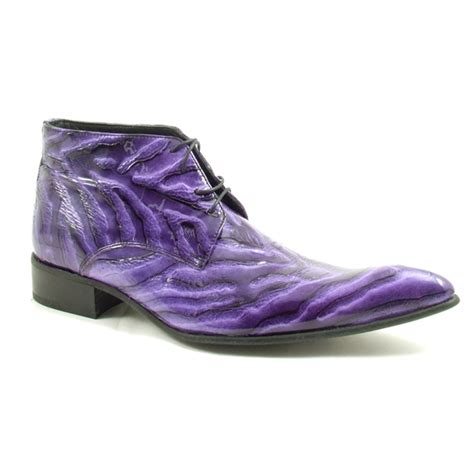 purple boots mens funky mens purple ripple boot gucinari originals