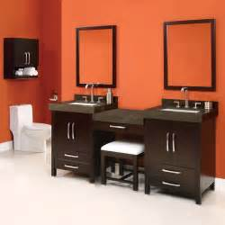 Sink Vanity With Makeup Station Modern Bathroom Vanities Bathroom Vanities And Sink