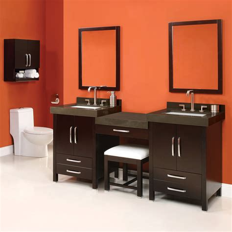 bathroom with makeup vanity modern bathroom vanities bathroom vanities and sink
