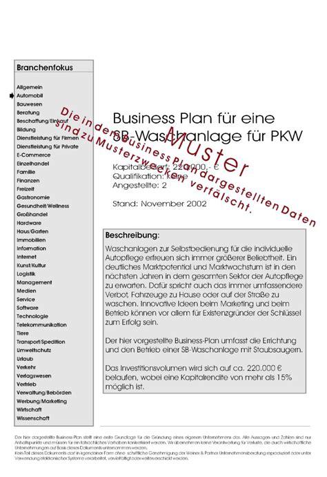 Angebot Vermietung Muster businessplan vermietung vorlagen de