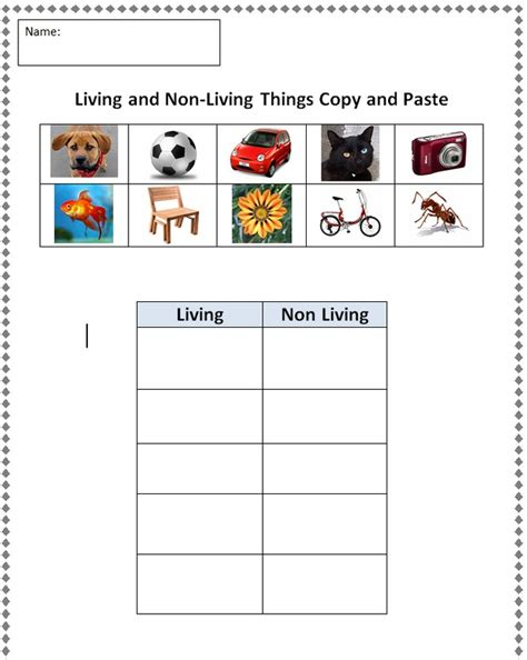 Living And Nonliving Worksheets by Living And Nonliving Worksheets For Preschool 1000