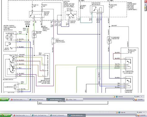 2000 mitsubishi mirage stereo wiring diagram 2000 free