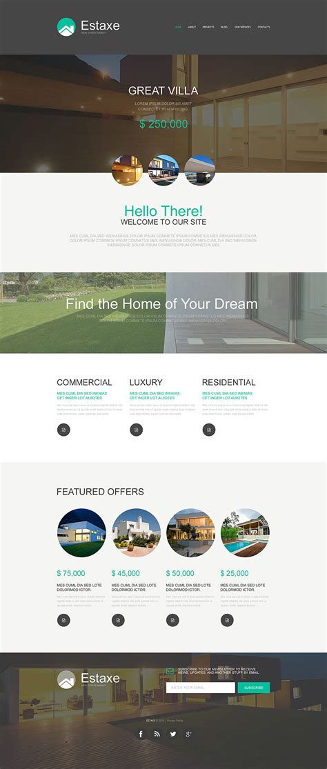 Template 53197 Ensegna Themes Muse Real Estate Template