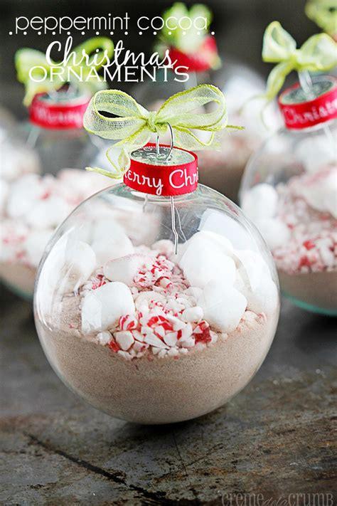 peppermint cocoa christmas ornaments creme de la crumb