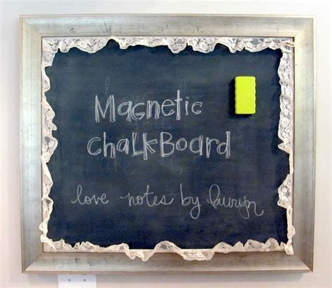 chalkboard paint magnetic notes by lauryn magnetic chalkboard tutorial how to