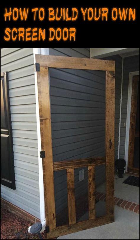 build  screen door easy diy projects pinterest