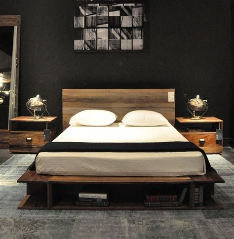 Reclaimed Wood Platform Bed Reclaimed Wood Platform Beds Contemporary Bedroom Chicago By Zin Home