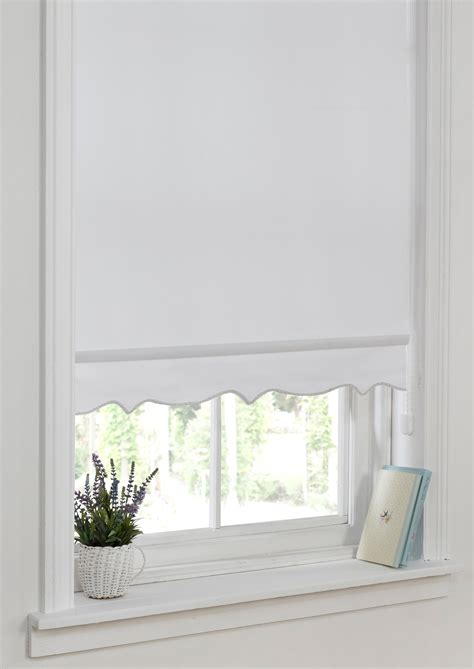 Ready Made Roller Blinds by Scallop Edge Roller Blind White Ready Made