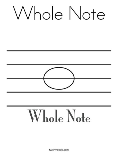 coloring book length whole note coloring page twisty noodle