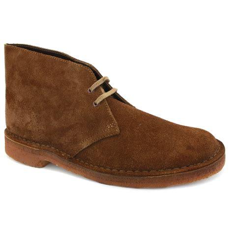 clarks originals desert boots suede mens cola suede ebay