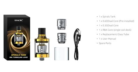 Smok Spirals Glass Glasstube Replacement Spiral cheap price buy smoktech 2ml spirals tank with new stock