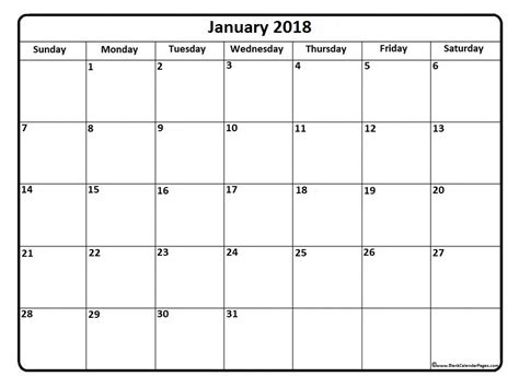 printable calendar jan 18 january 2018 calendar january 2018 calendar printable