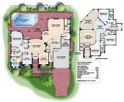 Mediterranean Style Floor Plans by Mediterranean Home Floor Plans With Pictures