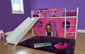 Bunk and loft bed curtain set in pink for the girls pinterest