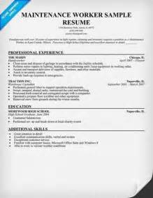 luck with the building maintenance resume sle