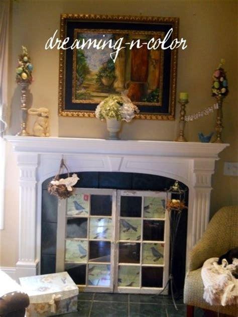 fireplace cover up pinterest