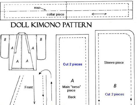 free pattern yukata free kimono pattern for doll doll clothes free patterns