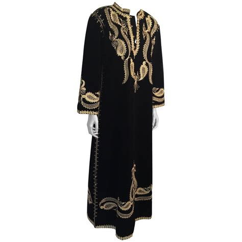 turkish black and gold velvet caftan maxi dress kaftan