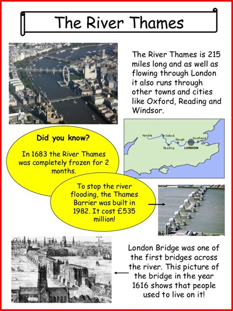 Thames Barrier Fact File | london fact sheets