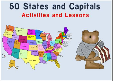 fifty states and capitals new calendar template site