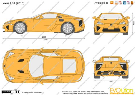 Lexus LFA vector drawing
