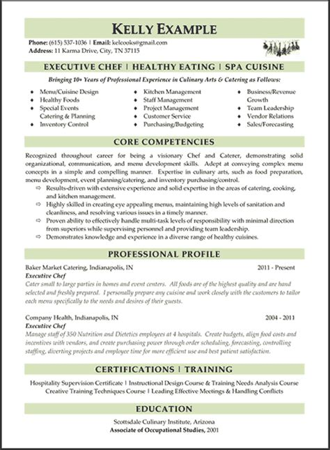 Executive Chef Resume by Index Of Images Exles