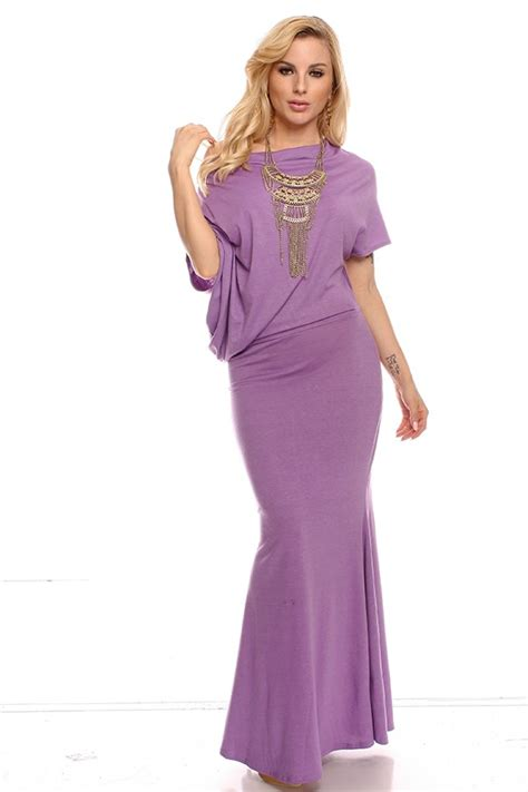 long comfortable dresses lilac sleeveless upper folded fabric soft comfortable long