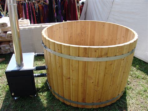 wood hot tub wood burning hot tub 1 5 meter siberian larch