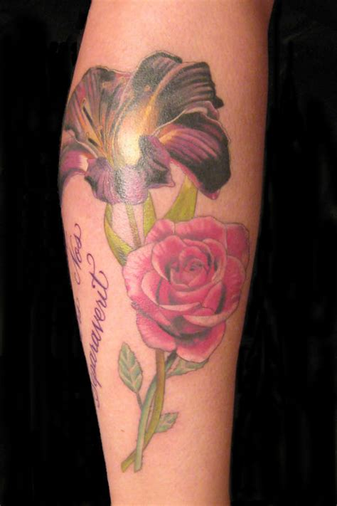 roses and lilies tattoos a and a