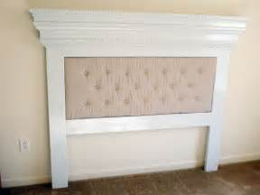 white our mantel moulding headboard with a unique