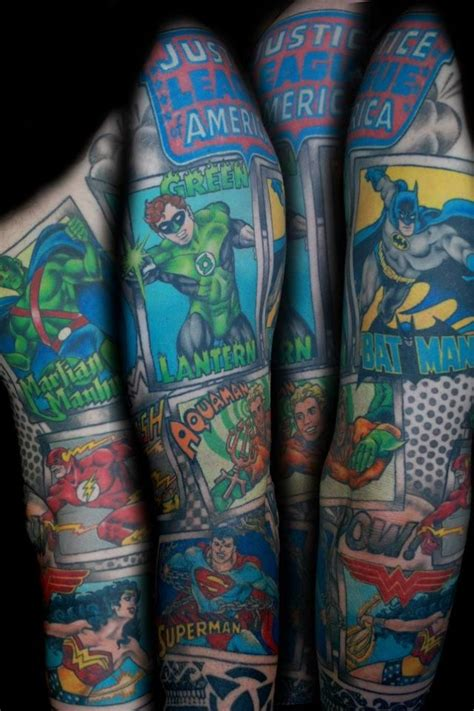 justice league tattoos justice league sleeve tattoos